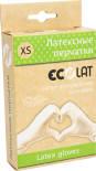 Перчатки EcoLat латексные белые размер XS 10шт