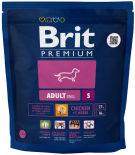 Сухой корм для собак Brit Premium Adult Small с курицей 1кг