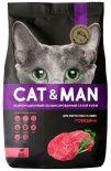 Сухой корм для кошек Cat&Man для взрослых кошек с говядиной 800г