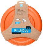 Игрушка для собак Collar PitchDog Летающий диск оранжевый 24см