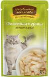Корм для кошек Деревенские лакомства Филейная курица в нежном желе 70г