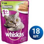 Влажный корм для кошек Whiskas Паштет с уткой 18шт*85г