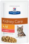 Влажный корм для кошек Hills Prescription Diet k/d при хронической болезни почек с лососем 85г