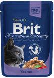 Корм для кошек Brit Premium Кусочки с треской 100г