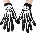 Перчатки карнавальные Скелет
