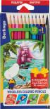Карандаши цветные Berlingo Корабли 12 цветов