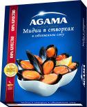 Мидии в створках Agama в собственном соку варено-мороженые 450г