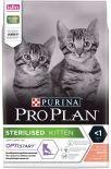 Сухой корм для стерилизованных котят Pro Plan Optistart Sterilised Kitten с лососем 3кг