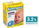 Молоко детское Крепыш стерилизованное 3.2% 200мл