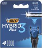 Кассеты для бритья Bic Flex 3 Hybrid 4шт