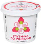 Мороженое Айскейк Москва Клубника со сливками 130мл