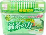 Поглотитель неприятных запахов Kokubo для овощного отделения холодильника с экстрактом зеленого чая 150г