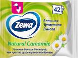 Туалетная бумага Zewa Camomile влажная 42шт