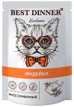 Корм для кошек Best Dinner Exclusive Мусс сливочный Индейка 85г