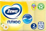 Туалетная бумага Zewa Плюс Аромат ромашки 12 рулонов 2 слоя