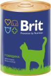 Корм для кошек Brit Говядина 340г