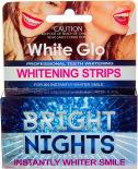 Полоски для зубов Wgite Glo Отбеливающие Bright Nights 6шт