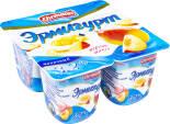 Продукт йогуртный Эрмигурт Персик-Манго 3.2% 4шт*100г