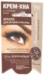 Краска для бровей и ресниц Fito Крем-хна коричневая 2*2мл
