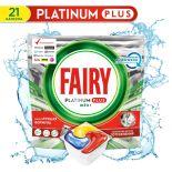 Капсулы для посудомоечных машин Fairy Platinum Plus All in One Лимон 21шт