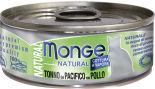 Корм для кошек Monge Cat Natural Тихоокеанский тунец с курицей 80г