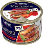 Килька Главпродукт Балтийская неразделанная в томатном соусе 240г
