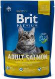 Сухой корм для кошек Brit Premium Cat Adult Salmon Нежный лосось в соусе 800г