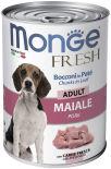 Корм для собак Monge Dog Fresh Chunks in Loaf рулет из свинины 400г