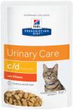 Влажный корм для кошек Hills Prescription Diet c/d для лечения и профилактики МКБ с курицей 85г