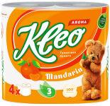 Туалетная бумага Kleo Aroma Мандарин 4 рулона 3 слоя