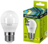 Лампа светодиодная Ergolux LED E27 7Вт