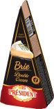 Сыр President Brie Double Cream с белой плесенью 73% 200г