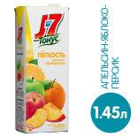 Нектар J-7 Тонус Легкость Персик яблоко апельсин с пребиотиком 1.45л