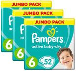 Подгузники Pampers Active Baby-Dry 13–18кг Размер 6 52шт