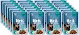 Корм для кошек Brit Premium Говядина соус 85г