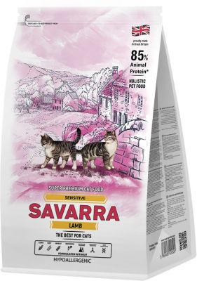 Сухой корм для кошек Savarra Sensitive Cat Ягненок рис 2кг
