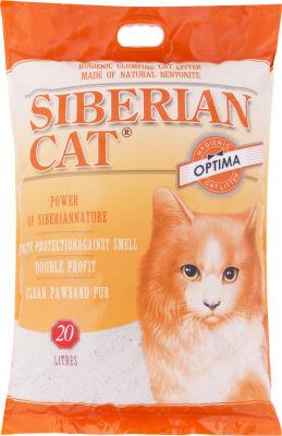 Наполнитель для кошачьего туалета Сибирская кошка Оптима комкующийся 20л
