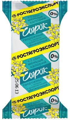 Сырок творожный Ростагроэкспорт с ванилином 0% 90г