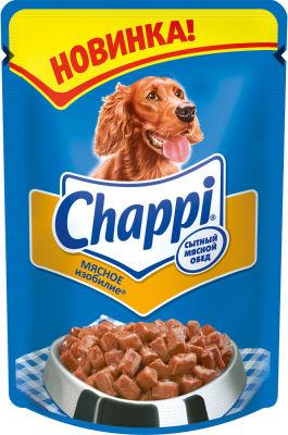 Корм для собак Chappi Сытный мясной обед Мясное изобилие 100г