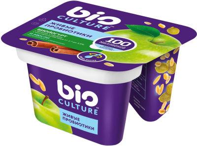 Биойогурт bio Culture Яблоко-корица мюсли 2.7-3.5% 130г