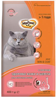 Сухой корм для кошек Мнямс Skin&Coat для кожи и шерсти с лососем 400г