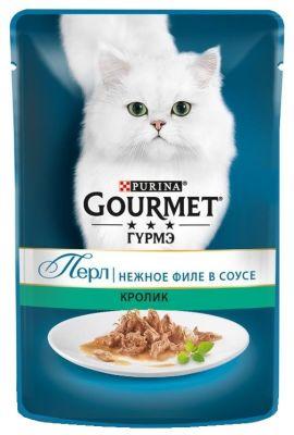 Корм для кошек Gourmet Нежное филе в соусе с кроликом 85г
