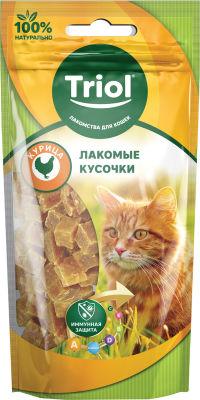 Лакомство для кошек Triol Лакомые кусочки из курицы 40г
