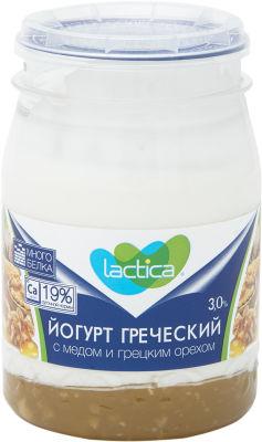 Йогурт Lactica Греческий с медом и грецким орехом 3% 190г