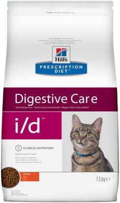 Сухой корм для кошек Hills Prescription Diet i/d при расстройствах пищеварения с курицей 1.5кг
