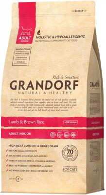 Сухой корм для кошек Grandorf Adult Indoor Ягненок с рисом 2кг