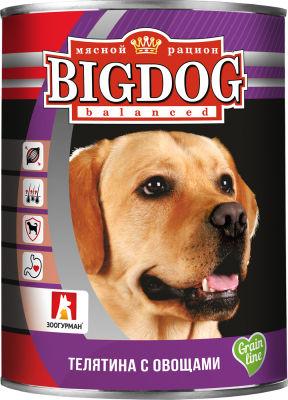 Корм для собак Зоогурман Big Dog balanced Телятина с овощами 850г