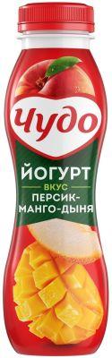 Йогурт питьевой Чудо Персик-манго-дыня 2.4% 270г