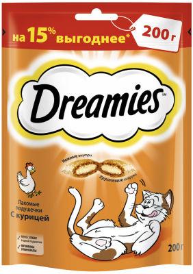 Лакомство для кошек Dreamies с курицей 200г