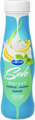 Йогурт питьевой Ecomilk Solo Матча-Мята-Лимон 2.8% 290г